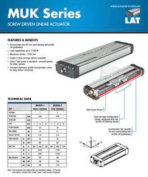 PBC Linear's MKU Series Ball Screw Driven Compact Series