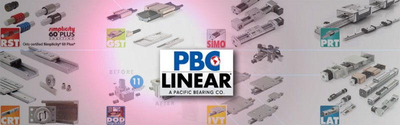 PBC Linear, Manufacturer of complete Linear Motion Assemblies, Linear Guides & Rails, Linear Actuators, and Roller Bearings.