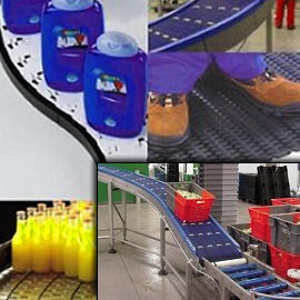 Ammeraal Beltech's vast array of straight uni-chains, and plastic modular belts
