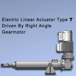 "Acme Screw Type - ""N"" (Driven By Right Angle Gearmotor) Acme screw selection Chart"