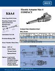 K6A4 RACO Series Actuators Brochure