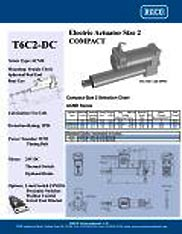 T6L4-DC RACO Series Actuators Brochure