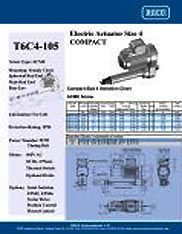 T6C4-105 RACO Series Actuators Brochure