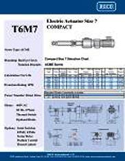 T6M7 RACO Series Actuators Brochure